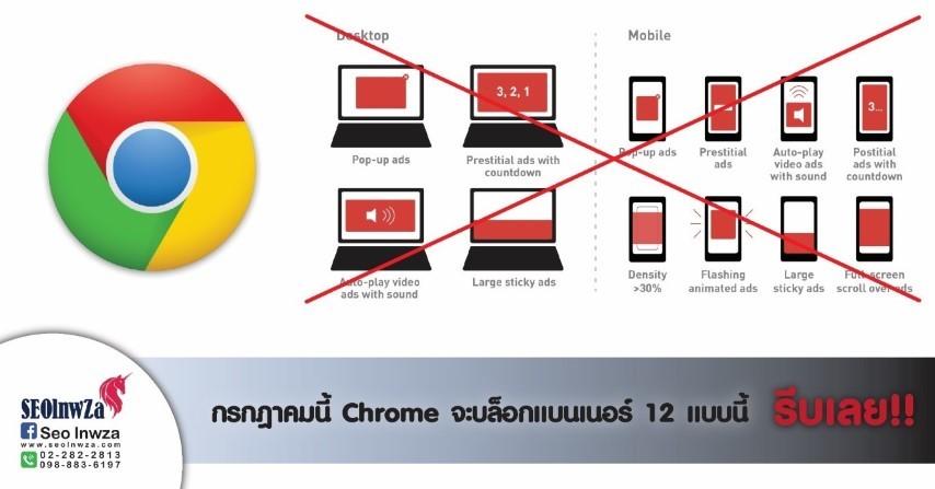 กรกฎาคมนี้ Chromeจะบล็อกแบนเนอร์ 12 แบบนี้ รีบเลย!!